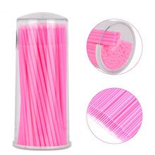 100pcs Disposable Makeup Cotton Swabs Eyelash Extension Mini Individual Applicators Home Mascara Brush Cotton Soft Swab