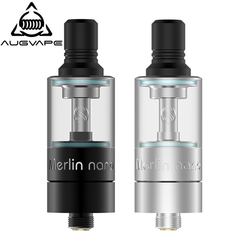 Augvape Merlin Nano MTL RTA Atomizer 18mm 2ml & 3.5ml Adjustable Airflow Bottom Refill System Peek Chamber Electronic Cigarette