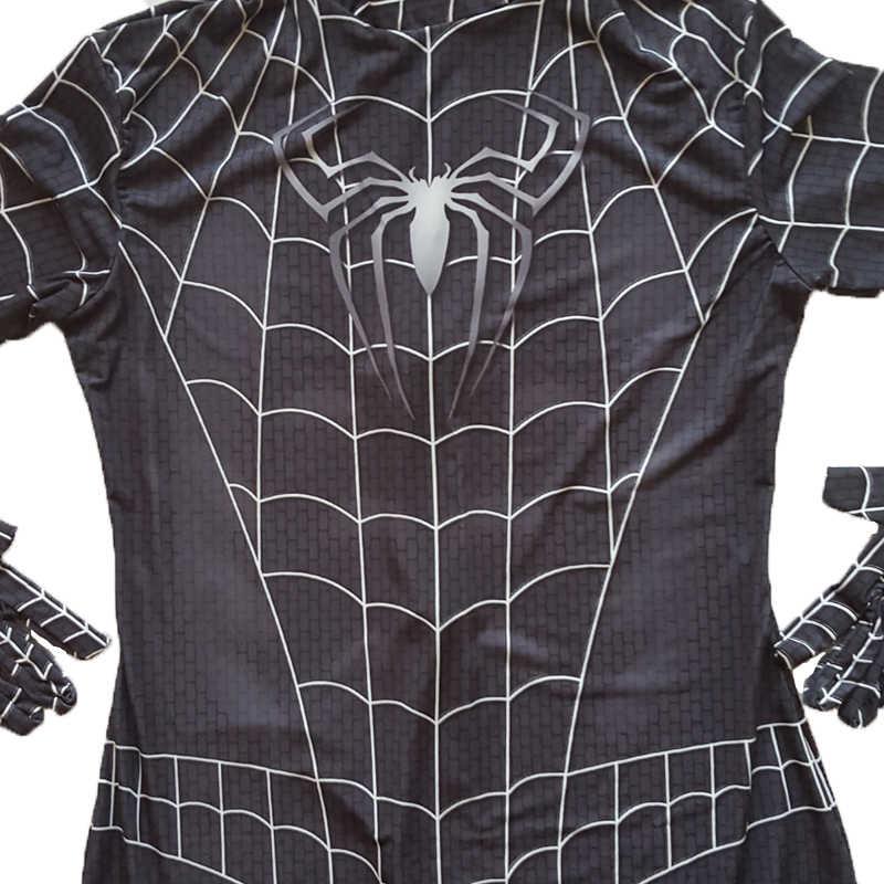 Взрослый черный костюм Человека-паука костюм супергероя Зентаи Веном костюм спайдермена мужские костюмы для Хэллоуина нарядное платье