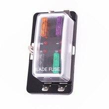1 pcs Car 4 way fuse holder with LED indicator light /gift 10 fuses