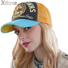 Xthree summer baseball cap snapback hats casquette embroidery letter cap bone girl hats for women men cap