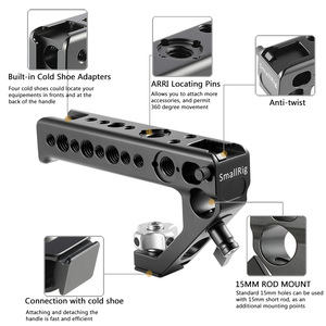 Image 3 - SmallRig Cold Shoe Adapter Handle To Mount DSLR Cameras and Cages With Thumb Screws +15 mm Rod Clamp Universal Handgrip  2094