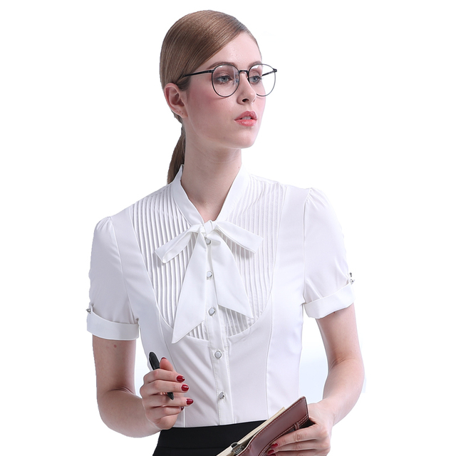 new product 5ba88 207ef Blouse-d-t-2017-V-tements-Femmes-Grande-Taille -Blusas-Top-En-Dentelle-Blanc-Chemise-manches.jpg 640x640.jpg