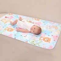 Cambiadores de almohadillas cubre pañales reutilizables para bebés pañales de colchón para recién nacidos patrón aleatorio ropa de cama a prueba de agua