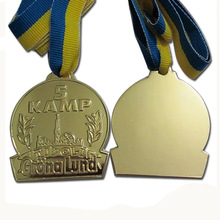 Cheap Marathon Running Competition Medal Customized Zinc Alloy Gold