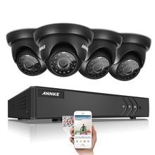 ANNKE 4CH Безопасность Системы 1080N Видеомагнитофон и (4) 1280TVL Всепогодный Камеры Видеонаблюдения с Ик-cut Встроенный