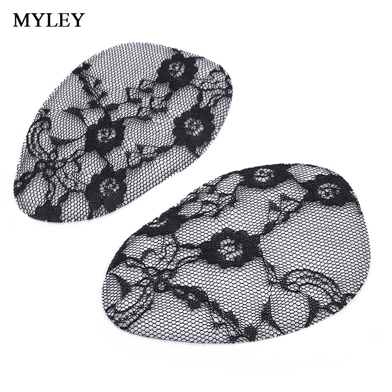 MYLEY Black/Beige Lace Front Insole Forefoot Insoles for High Heels Toe and Flats Shoes Silicone Gel Pads Breathable Cushioning wholesale 5 beige rubber soft front insole for ladies fit any shoes