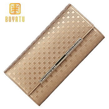 Luxury Women Leather Wallet,Fashion Long Purse Female Gold Wristlet Ladies Clutch for IPhone Famous Brand cartera mujer 2019