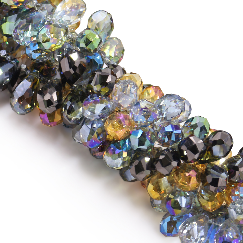 Wholesale 6x4mm Faceted Glass Crystal Jewelry Design Diy Rondelle Loose Beads