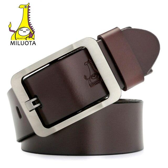 [Miluota] cinturones de lujo para los hombres de moda correa de cuero genuina de los hombres diseñador de la marca ceinture homme
