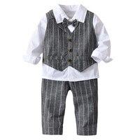 b85ff957a 4PC Toddler Baby Boy Bowtie Gentleman Vest T Pants Wedding Suit Cloth Tops  Set Outfits Suit. 4 PC de niño bebé corbatín Caballero chaleco pantalones  traje ...