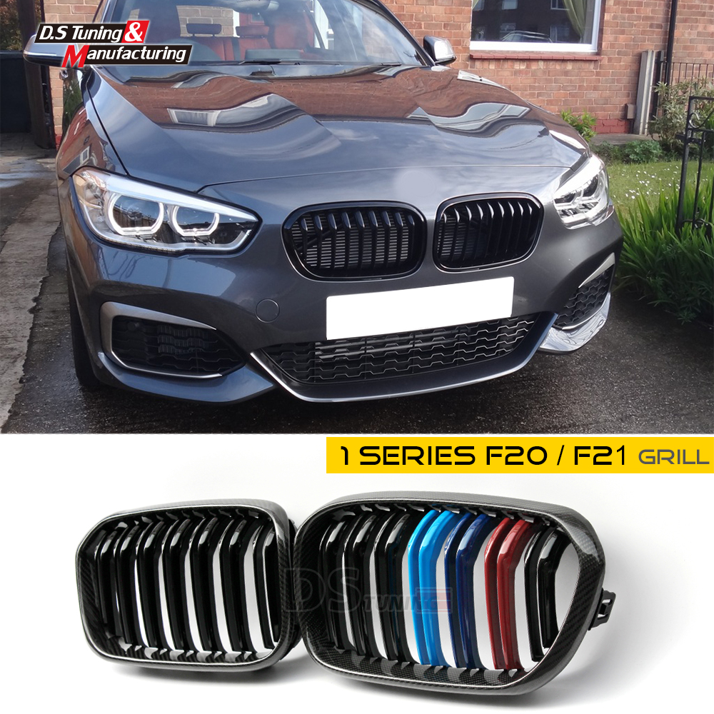 F20 LCI replacement carbon fiber hood grille for bmw facelifted F21 120i 118i 116i 116d M135i M140i 2015 2016 2017 2018 f20 pre lci carbon fiber abs front kidney grille for bmw f21 120i 118i 118d 116i m135i 2012 2013 2014