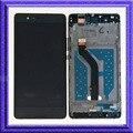 Negro pantalla lcd táctil de cristal digitalizador asamblea + marco para huawei p9 lite vns-l21 l22 l23
