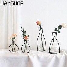 Vase Modern Minimalist Decorative Metal Vase Home Decor Bottle Jar for Home Decoration Aritifical Flower Iron Flower Vases