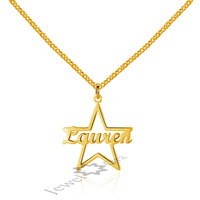 Personalized Pendants Name Necklaces 925 Sterling Silver Necklaces Pendants Rose Gold Color Charm Link Chain Jewelry