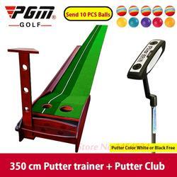 Pgm داخلي الغولف وضع حة ممارسة الغولف تسكع سوينغ حصيرة 3 متر بطانية مجموعة 12 كرات المتمرن جولف جولف اكسسوارات