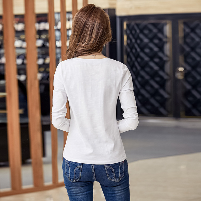 BOBOKATEER cotton embroidery blouse white top long sleeve women blouses 2018 casual shirt womens tops blusas mujer chemise femme 3