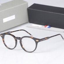 d2d16856d22 New York Brand THOM round Eyeglasses Frames men women TB404 glasses  Prescriptio Glasses Computer Optical round