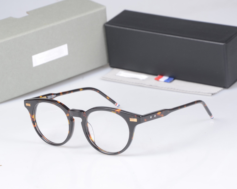 New York Brand THOM round Eyeglasses Frames men women TB404 glasses Prescriptio Glasses Computer Optical round Frames with box