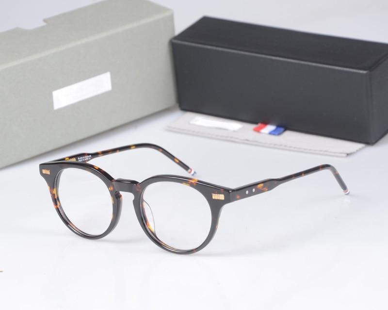 نيويورك العلامة التجارية THOM جولة النظارات إطارات الرجال النساء TB404 النظارات Prescriptio نظارات الكمبيوتر إطارات جولة البصرية مع مربع