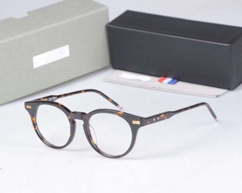 New York merk THOM ronde brillen Frames mannen vrouwen TB404 bril Prescriptio bril Computer optische ronde frames met doos