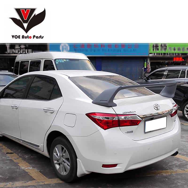 VOE Corolla ABS Plastic Unpainted Sport Style Car-styling Rear Spoiler for Toyota Corolla 2003-2016 special car trunk mats for toyota all models corolla camry rav4 auris prius yalis avensis 2014 accessories car styling auto