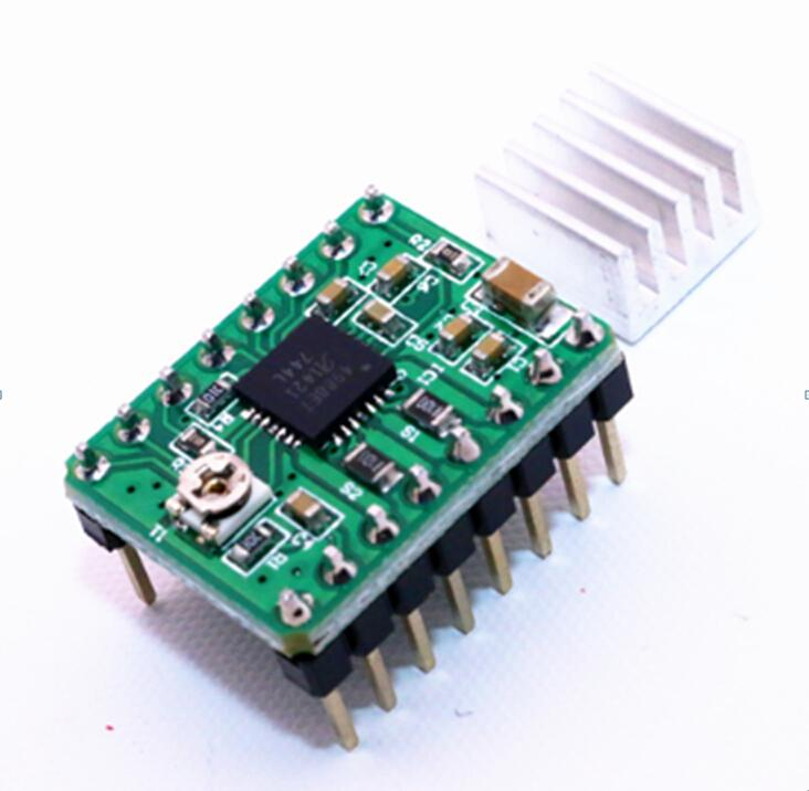 Green A4988 StepStick Stepper Motor Driver Module+Heat Sink 3D Printer Reprap Free Shipping