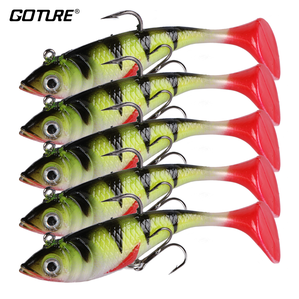 Goture Fishing Lure Silicone Bonic Soft Bait 10.7g 8.4cm Wobblers Artificial Bait Red Tail Lead Fish 5pcs/lot hot sale 20pcs lot silicone fish shaped fishing artificial lure bait 5cm luminous soft silicone tiddler bait fishing lure