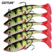 Goture Fishing Lure Silicone Bonic Soft Bait 10.7g 8.4cm Wobblers Artificial Bait Red Tail Lead Fish 5pcs/lot