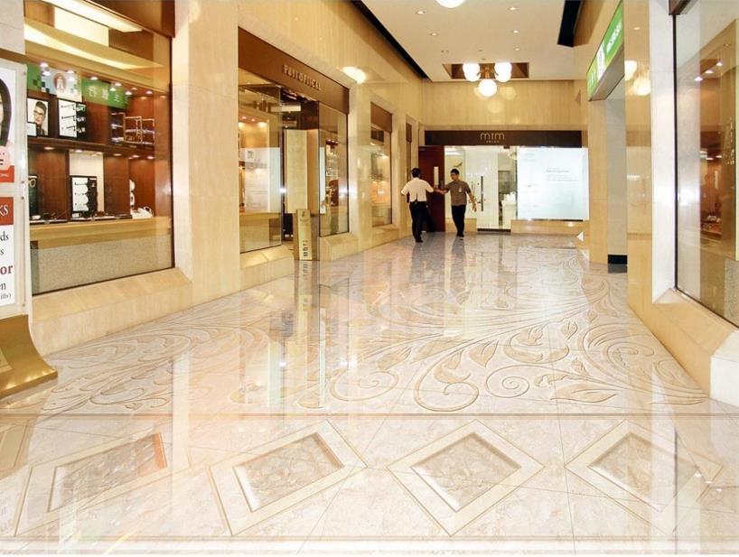 3D photo floor wallpaper mosaic pattern wallpaper 3d floor murals waterproof self-adhesive 3d floor stickers