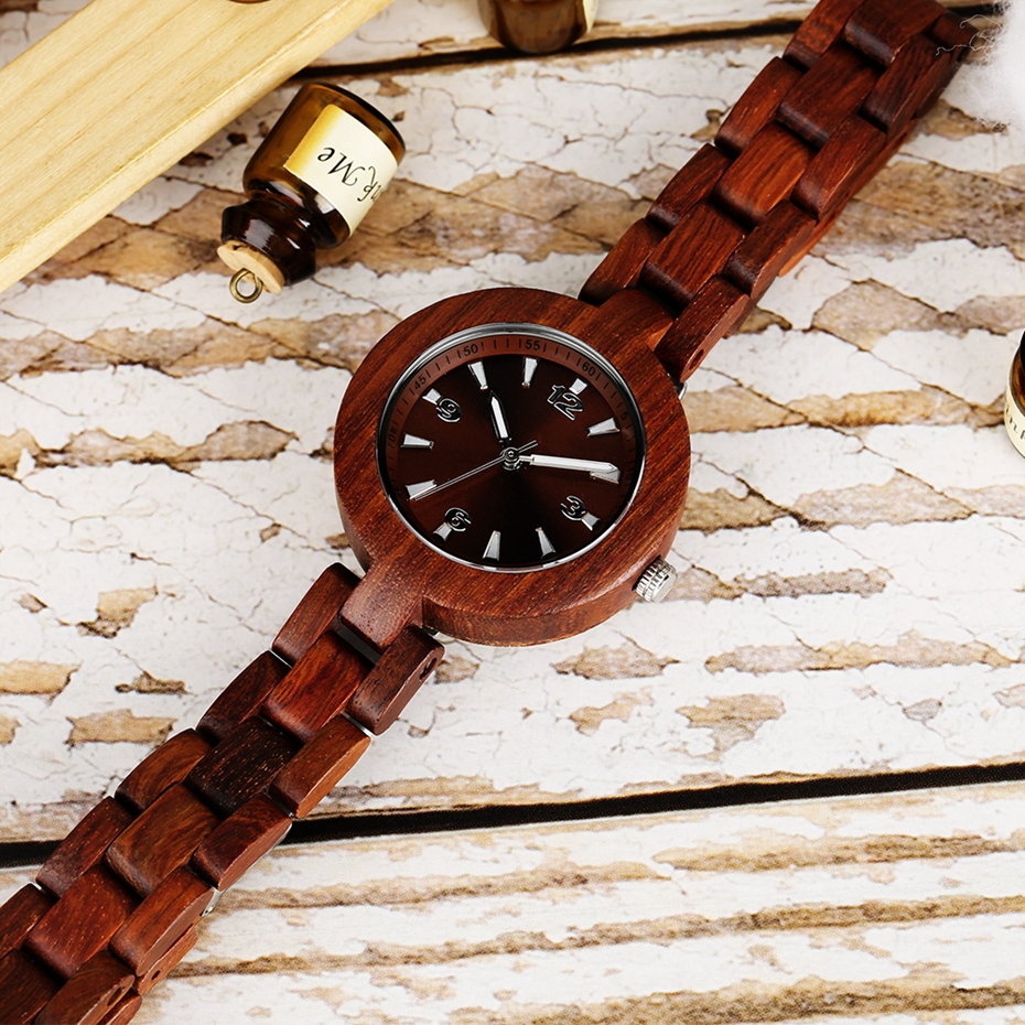 Women's Wood Watches Top Brand Unique Little Cute Dial Quartz Clock Ladies Dress Wooden Bangle Watch Environmentally reloj mujer 2018 2020 2019 (8)