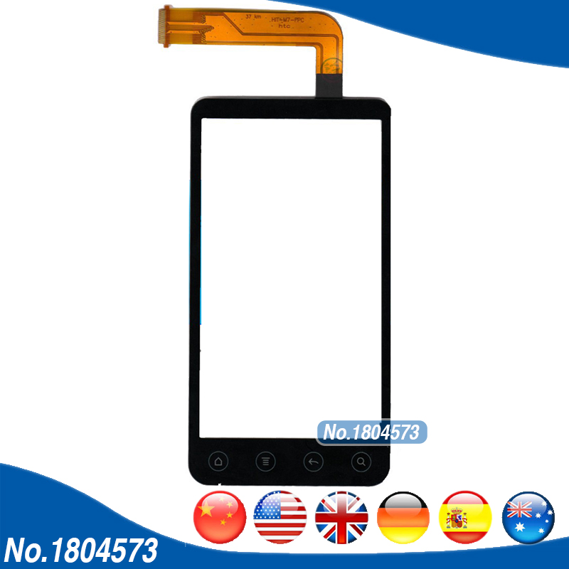 100% New Touch Digitizer For HTC EVO 3D Sprint X515 G17 Touch Screen Front Glass Panel Screen Replacement With Tracking 1PC/Lot