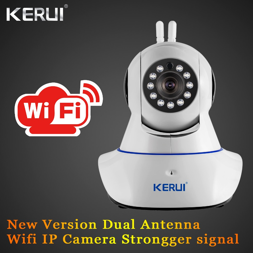где купить KERUI IWifi ISO Android APP Remote Control Burglar HD IP Camera WiFi Vandal-proof Dual antenna For Home Security Alarm System по лучшей цене