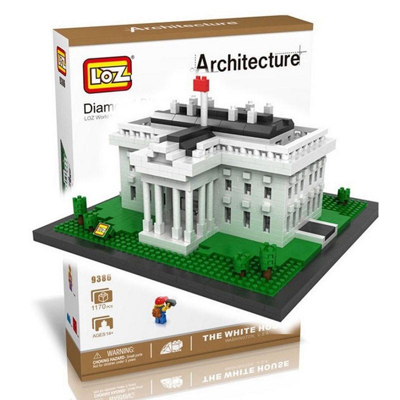 LOZ World Famous Architecture Diamond Building Blocks US The White House Children Learning Education 3D DIY Assemble Model Toys