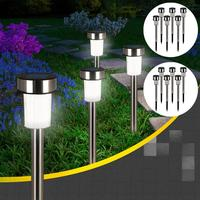 16Pcs Outdoor Waterproof Solar Powered LED Night Light Tube Garden Lamp Decor