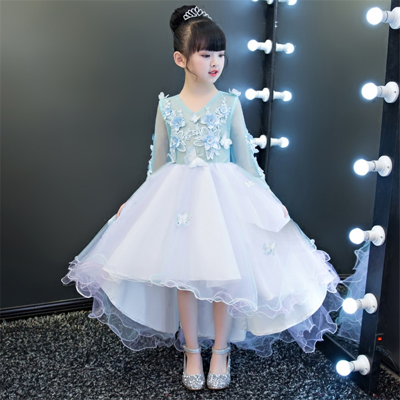 2018Flower Girl Dress For Wedding Baby 3-15years Birthday Outfits Children's Girls First Communion Dresses Kids Party Wear Dress недорго, оригинальная цена