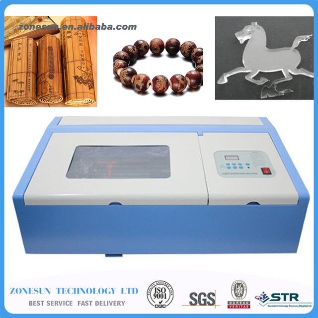 ZONESUN 110/220V 40W 200*300mm Mini CO2 Laser Engraver Cutting Machine 3020 Laser for boulder, horns, leather, crystal, wood laser head raf3023 raf3024 3022 3020