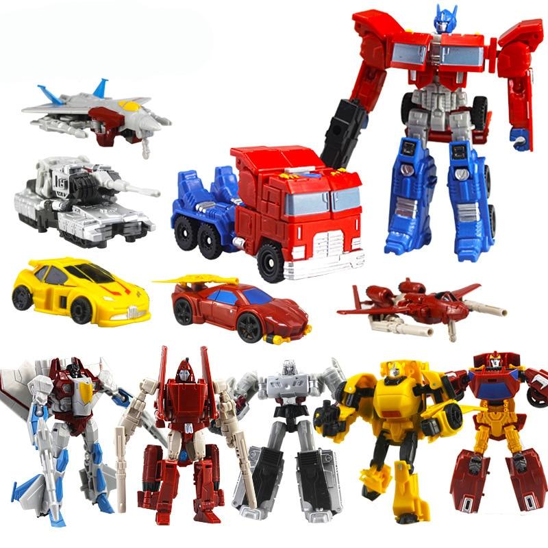 Transformation Robot Toys Vehicle Action-Figures Birthday-Gift Plastics Kids Mini Children