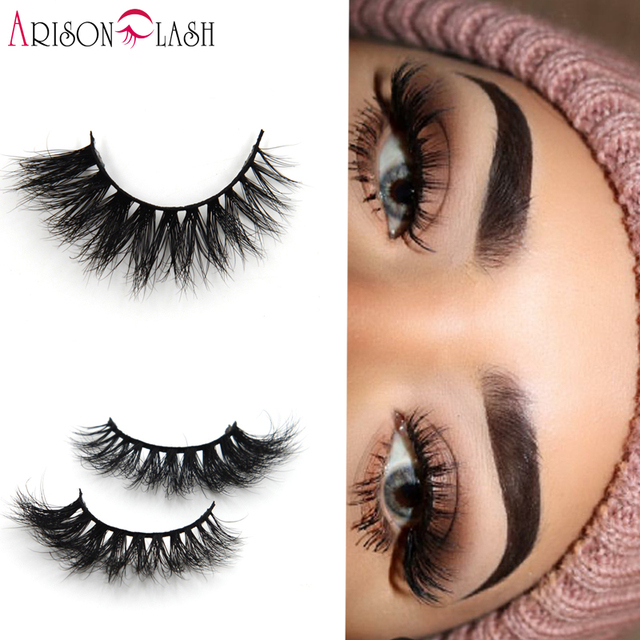 5a4fffbc9e1 Arison Sexy 100% Handmade 3D Mink Full Strip Lashes Beauty Thick Long False  Mink Eyelashes Fake Eye Lashes Eyelash Round Box