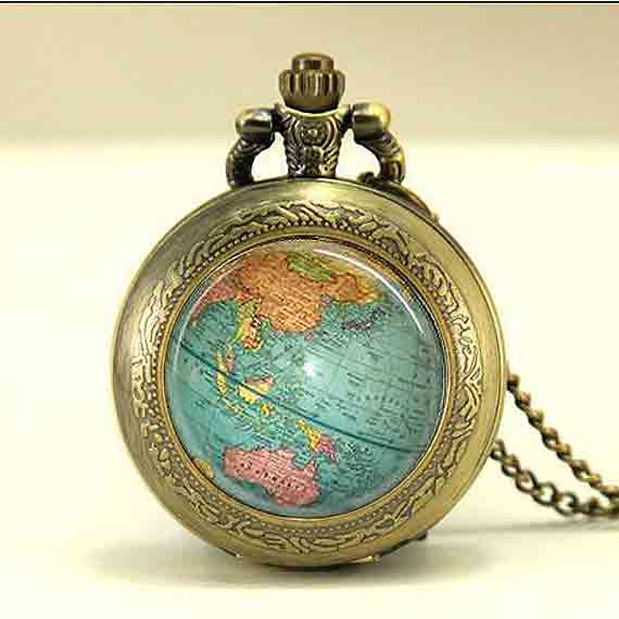 antique globe star wars necklace planet earth world map pocket watch chain 1pcslot silver mens steampunk pendant dr doctor who in pendants from jewelry
