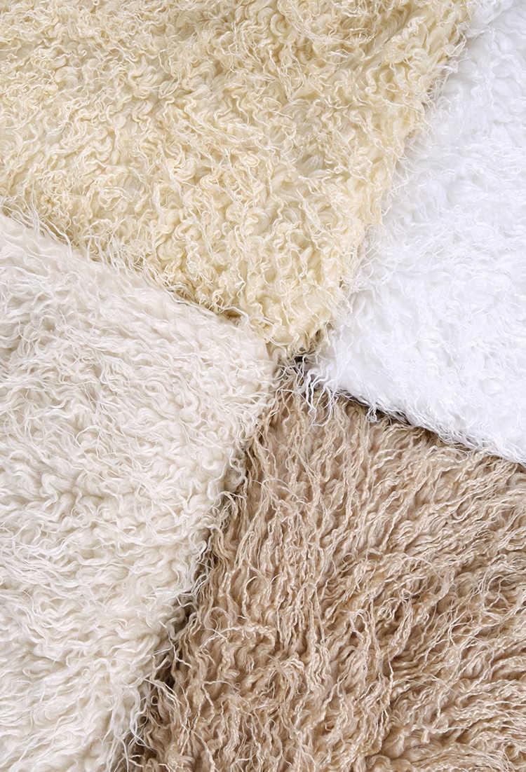 Şalgam şerit kürk sahte yün peluş battaniye kumaşı 50 cm x 150 cm kaliteli suni deri kumaş yelek kürk kumaş