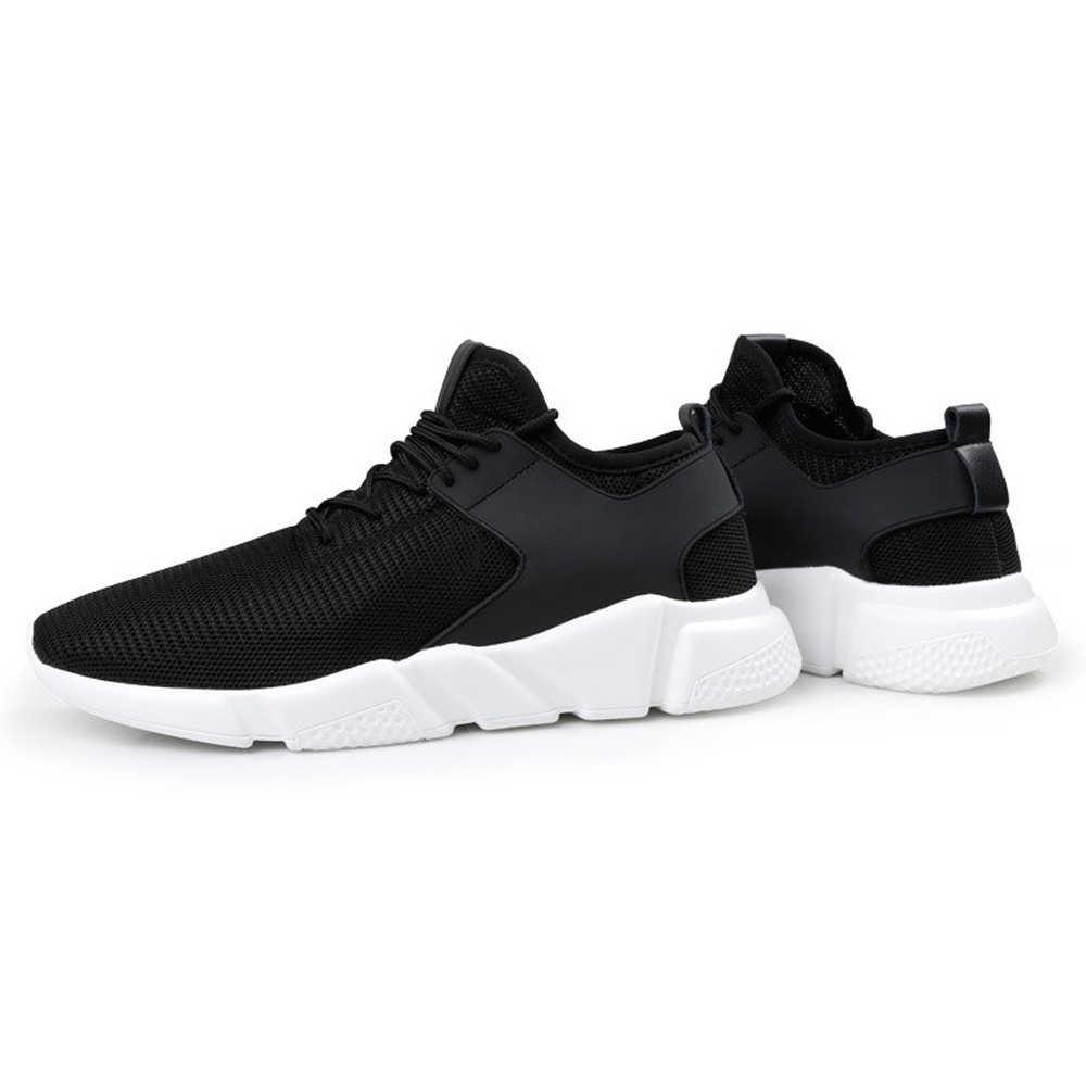מקרית מאמני ספורט סניקרס גברים של לגפר נעלי רשת לנשימה נגד החלקה נשים גברים נעליים לרוץ שחור קל משקל סניקרס