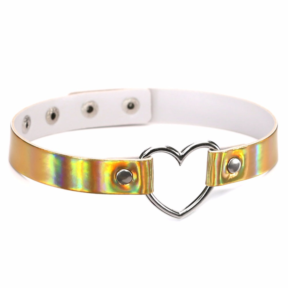 Women's Choker Necklace with Metal Heart Jewelry Necklaces Women Jewelry