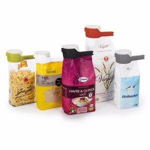 Image 3 - 1pcs חותם יוצקים מזון אחסון תיק קליפ מזון איטום קליפ אפקט מהדק עם גדול פריקה זרבובית לאחסון מזון מטבח כלים