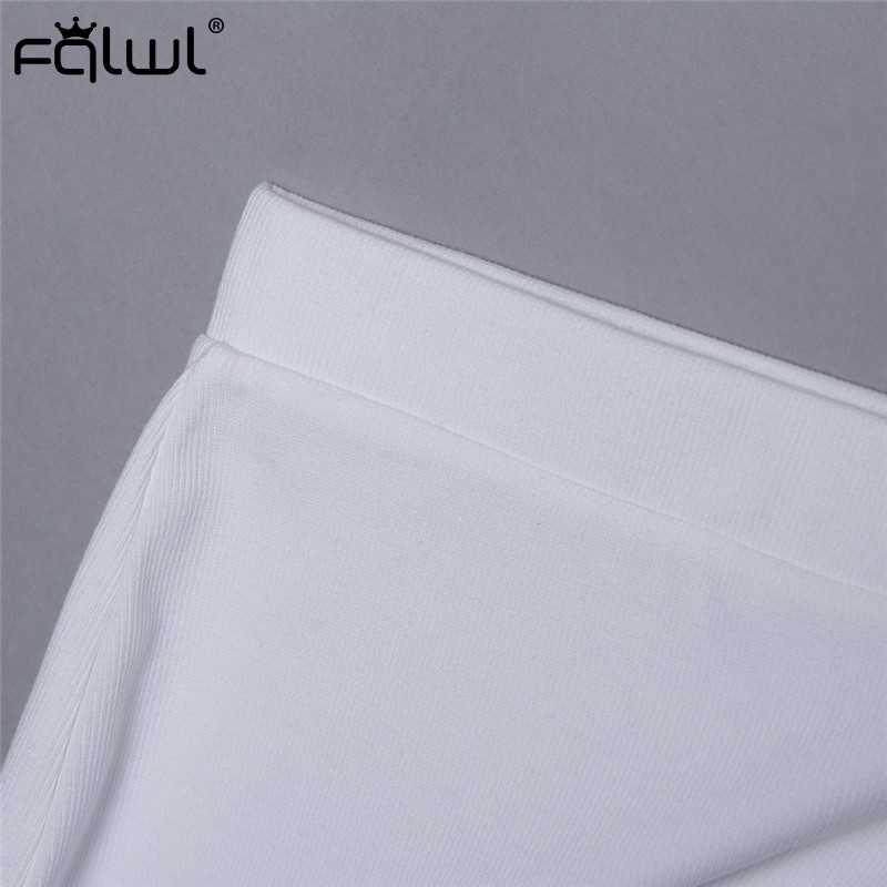 FQLWL Casual Zwei Stück Set Sommer Gestrickte Kleid Frauen Langarm Weiß Sexy Bodycon Lange Kleid Wrap Club Party Maxi kleider