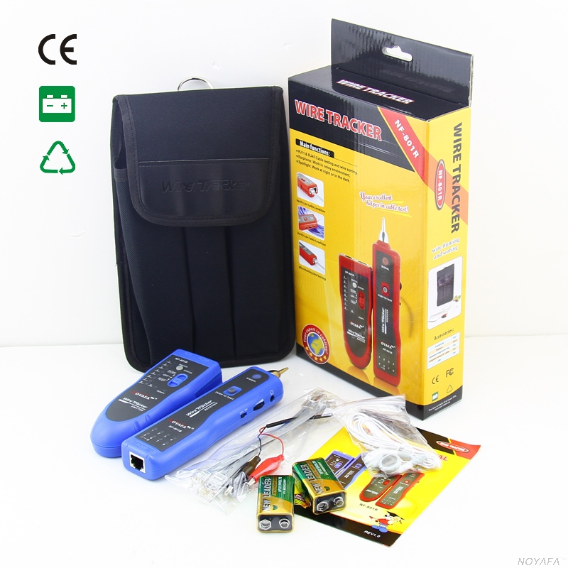 NF-801 couleur bleue RJ45 RJ11 USB Kit d'outils réseau Ethernet testeur de câble localisateur de câble NF_801