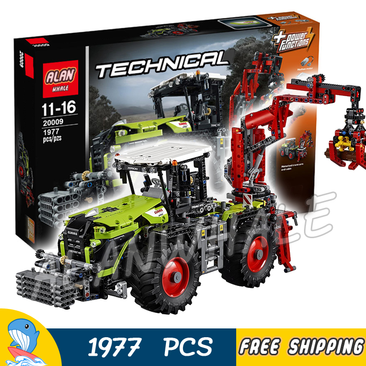 1977pcs 2in1 Technic Motorized Claas XERION 5000 TRAC VC Machineshop 20009 Model Building Blocks Toy Bricks Compatible With lego bruder claas xerion 5000 bruder брудер