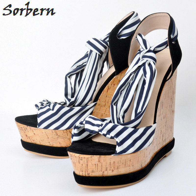 Sorbern Summer Shoes Woman High Heels Platform Wedges Sandals 2018 Plus Size 34-48 Woman Platform Wedge Sandals Cheap phyanic 2017 gladiator sandals gold silver shoes woman summer platform wedges glitters creepers casual women shoes phy3323