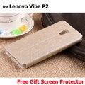 """Para lenovo caso p2, alta qualidade caso de couro da aleta para lenovo vibe p2c72 p2 5.5 """"mobile phone pouch capa coque pele casos"""