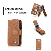 Multi Function Leather Cover For Samsung Galaxy S6 Case 2 In1 Removable Zip Card Holder Wallet